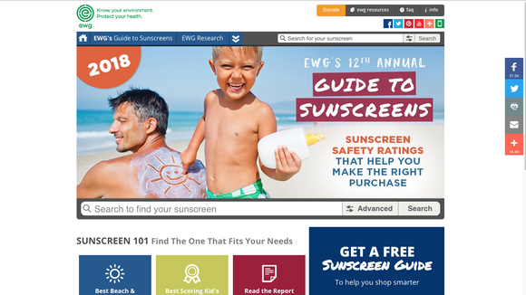 The Environmental Working Group's website allows visitors to type in a specific sunscreen product and read about how safe and effective it is or isn't. The EWG is a nonpartisan, nonprofit organization that conducts research and education to encourage consumers to lead healthy, environmentally friendly lives.