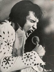 Elvis Presley performed his next to last concert at