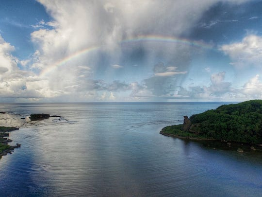 Alfred Martin shared this photo of a rainbow taken at Bear Rock in Inarajan on Liberation Day.