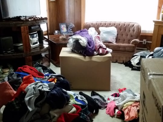 Chase Hartman's home was full of clothing donations