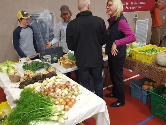 Completing its first season, the Stevens Point Winter Farmers Market has 10 to 15 producers selling meats, such as chicken, duck, rabbit, pork, goat, beef and bison and vegetables, canned goods, coffee, baked goods and more.