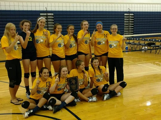Michelle McCulloch (far right) will take over the Port Huron Northern varsity volleyball program after serving as an assistant coach and head JV coach the past two years. Here is McCulloch with last year's team.