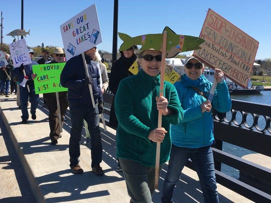A Great March for a Great Lake was in Sturgeon Bay Saturday, May 6, 2017.