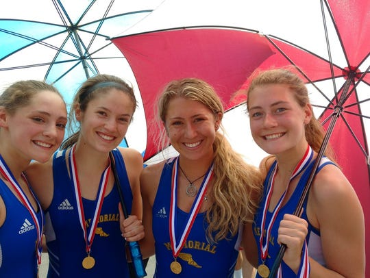 Catholic Memorial runners (from left) Josie Schrubbe,