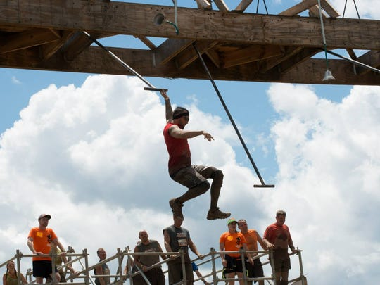 Vinny Mogavero in action at a Tough Mudder event.