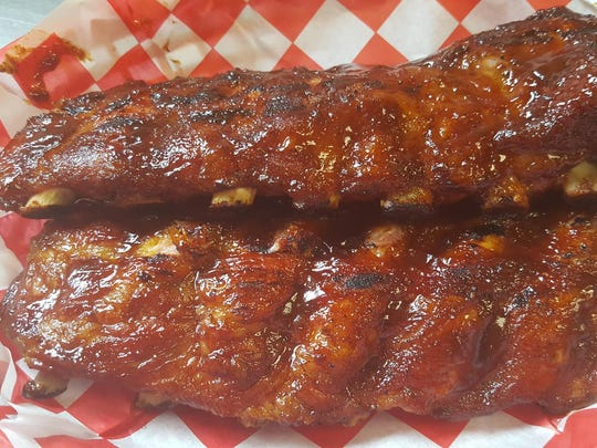 People who love BBQ should mark down the Smoke in the Grove BBQ competition. Competing categories include slow cooked ribs like these by Little Everett's BBQ in Conewago Township.