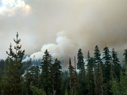 Smoke from Whitewater Fire