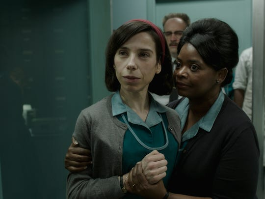 """Sally Hawkins and Octavia Spencer in the film """"The Shape of Water."""""""
