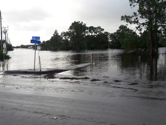The scene at Lee and Leonard boulevards in Lehigh Acres