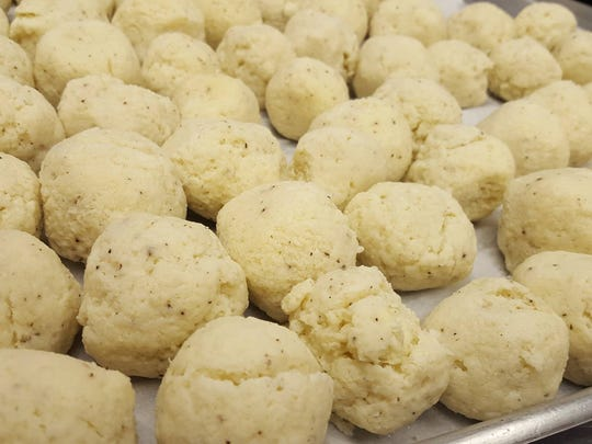 Matzo balls for the soup available at Marc's Cheesecake