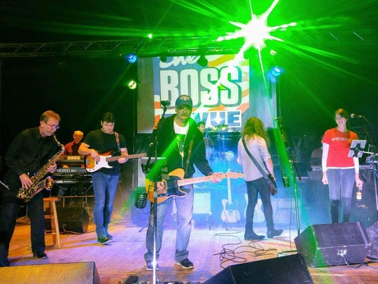 A Bruce Springsteen tribute band called The Boss Revue is expected to have eight members when it performs Friday in downtown Lansing.