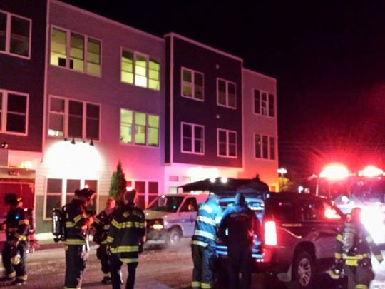 Firefighters respond to an apartment building on Day Lane in Williston for a carbon monoxide leak on Monday night, Dec. 11, 2017. No injuries were reported but the building had to be evacuated overnight, emergency responders said.