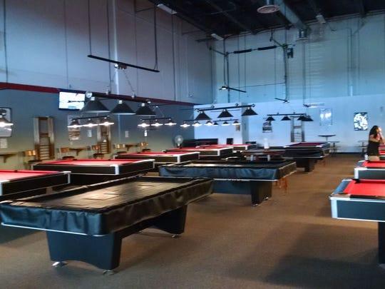 Inside Break Away Billiards.