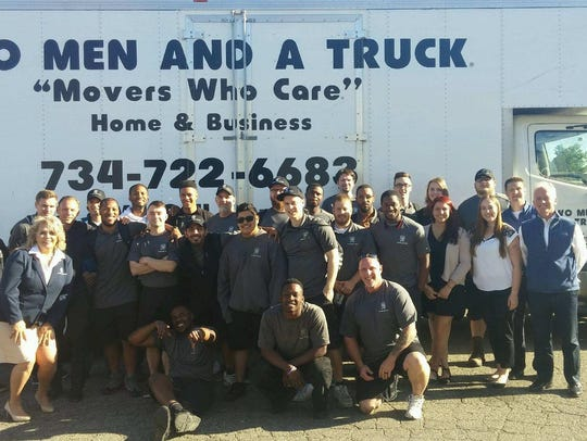 The Livonia-based Two Men and a Truck franchise uses