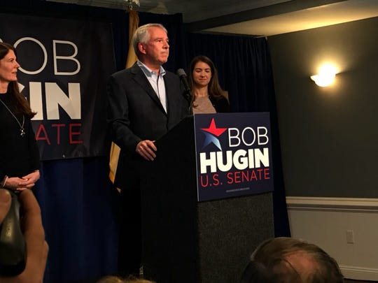 Republican Bob Hugin announced his bid to run for the