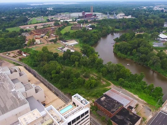 Cross Bayou on the north edge of downtown Shreveport.