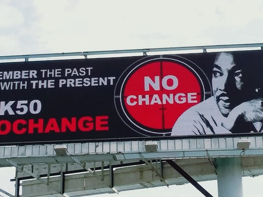 Billboards this week by the Coalition of Concerned