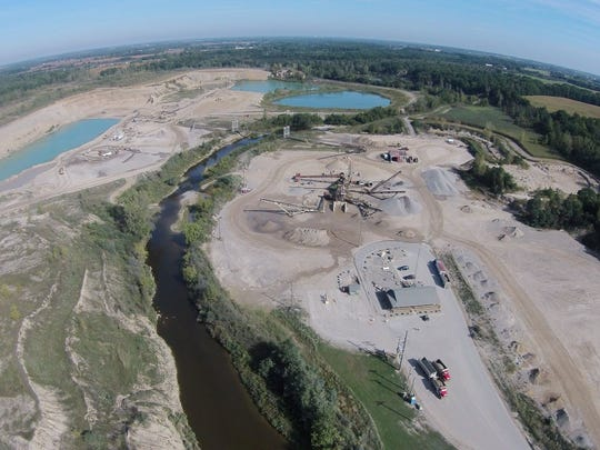 The gravel pit at Mid Michigan Materials in Jeddo will