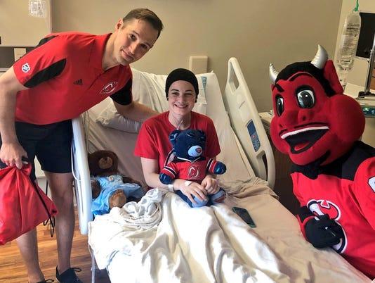 NJ Devils visit Lauren Liff