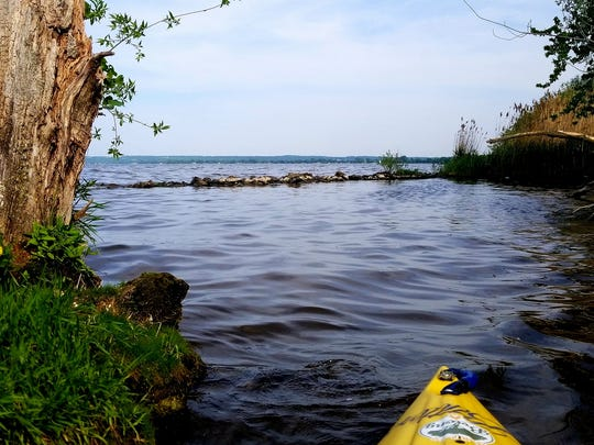 Justin McArthur, creator of Paddle Everything, documents the lake's and creeks he visits through a camera on the kayak. Pictured is Lake Winnebago.