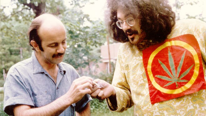 John Sinclair (right) with John Rosevear in 1967.