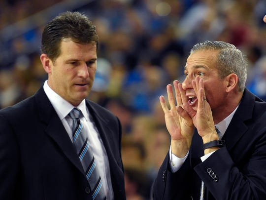 Ed Schilling (right) teamed up with Steve Alford at