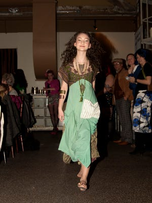 Aislin Freya Pax rocked the show in her boho look designed by Leanna Echeverri.