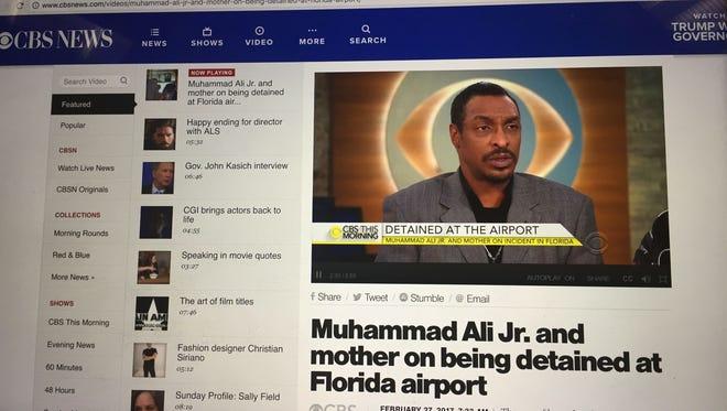 Muhammad Ali Jr. speaks to CBS This Morning