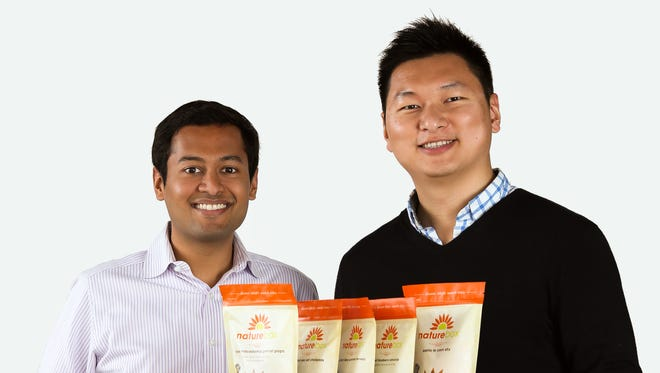 NatureBox founders Gautam Gupta, left, and Ken Chen have raised $28 million in funding for their two-year-old snack foods business.