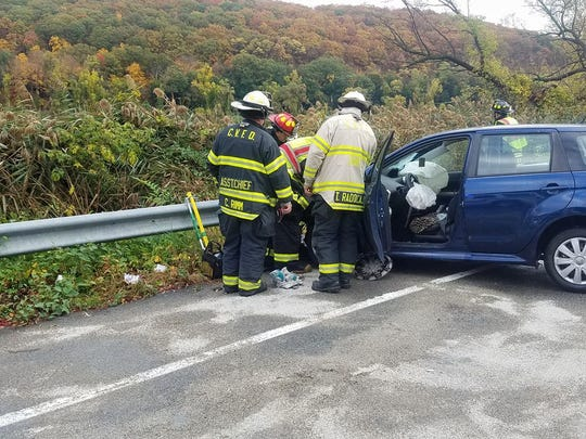 A head-on collision on Route 9 in Cortlandt closed the northbound lane until about 5 p.m.
