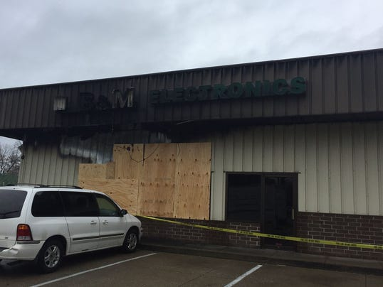 B and M Electronics fire possible arson