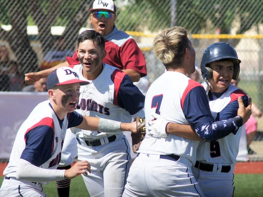The celebration continued well after Deming High's 2-1 series win over the Grants High Pirates at E.J. Hooten Park.