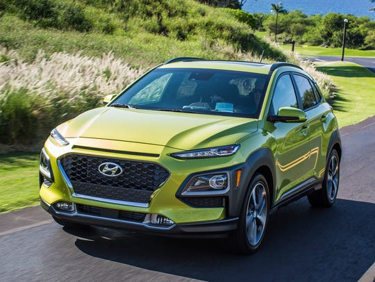 The all-new Hyundai 2018 Kona, a subcompact crossover.