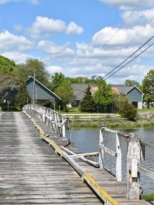 As seen in this photo, the bridge to Pleasure Island is in need of repair.