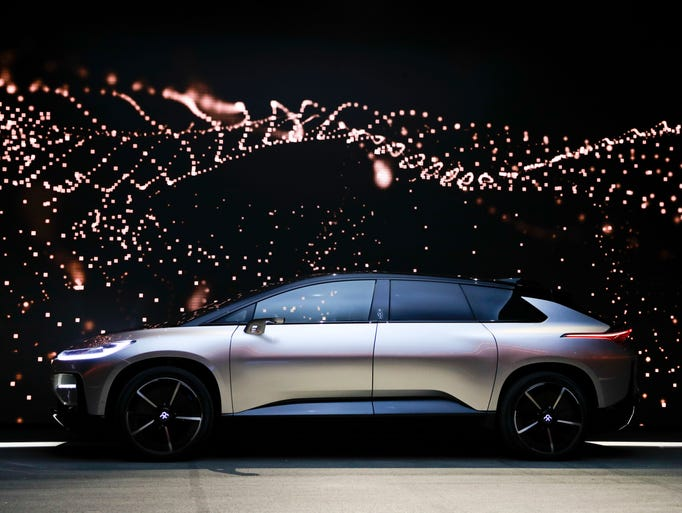 Faraday Future's FF91 electric car is unveiled during