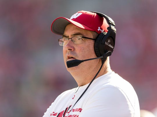 Wisconsin Badgers head coach Paul Chryst during the