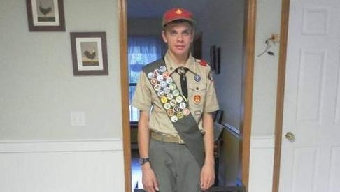 Christopher Di Fede of Troop 48 achieves the rank of Eagle Scout.