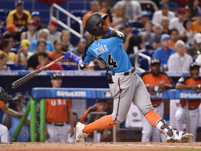 OF Ronald Acuna, Braves, 2017