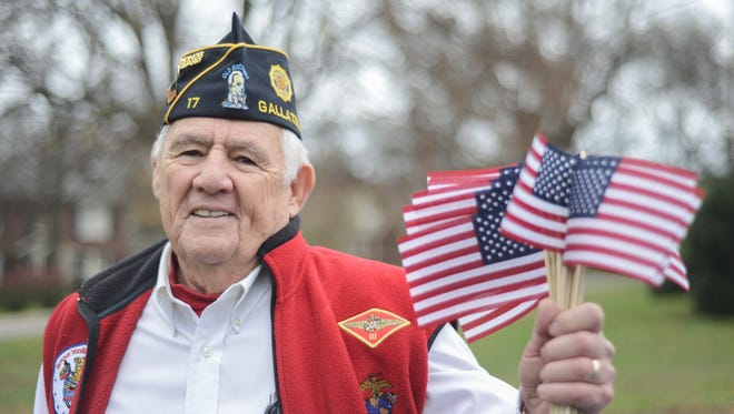 Ron Wade shows his patriotism just before participating in the Gallatin Veterans Day Parade on Saturday Nov. 7.