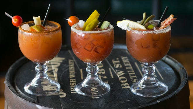 Bloody Marys at the Arcadia Tavern in Phoenix as seen on Saturday, December 13, 2014.