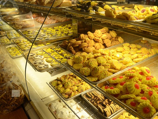 Cookie case at Continental Pastries and Deli