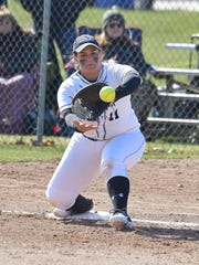 Stockton sophomore Alexandra Cosenzo, a Hanover Park alumna, reached the 100-hit mark and broke her own school record for RBI in a season with 42 this year. In just two seasons, she ranks second in school history in career home runs (15) and fourth in career RBI (83).