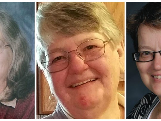 Kalamazoo shooting victims are, from left, Mary Lou Nye, Barbara Hawthorne and Mary Jo Nye.