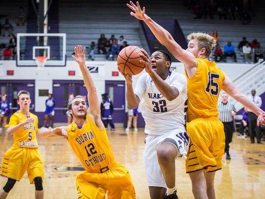 Central's Christian Wells shoots past Guerin Catholic's