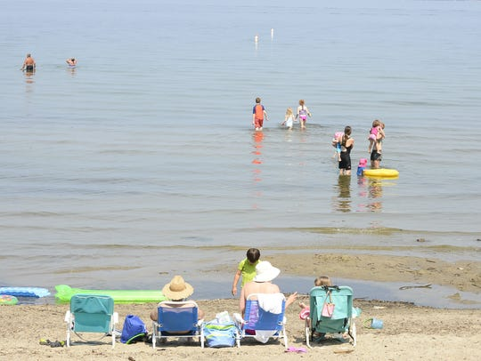 People began showing up at Blanchard Beach at Oakledge