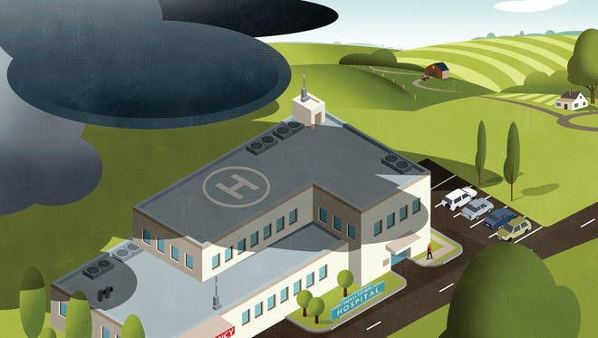 A cloud of uncertainty hangs over America's rural hospitals.