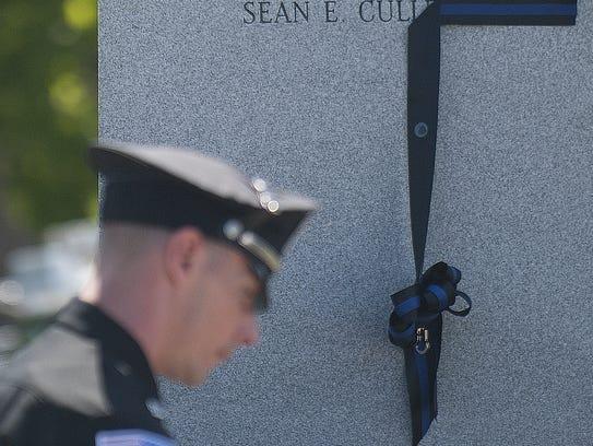 Fallen N.J. State Police Trooper Sean E. Cullen's name