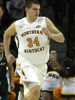 NKU freshman Drew McDonald (NewCath). Northern Kentucky vs. Green Bay. Horizon League men's basketball. Feb. 4, 2016. BB&T Arena, Highland Heights KY.