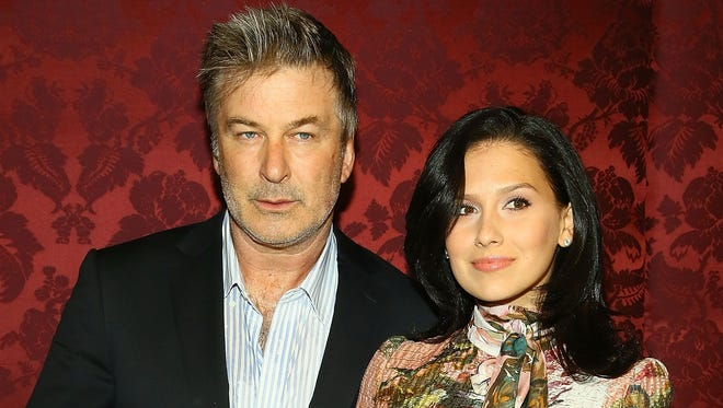 In a calmer moment, Alec Baldwin and Hilaria Baldwin  attend an event on Oct. 29 in New York City.