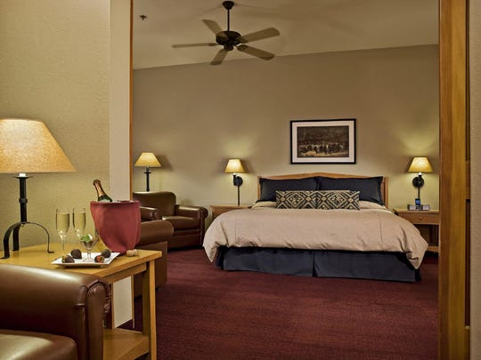 A room at Wuksachi Lodge is not only stunning on the